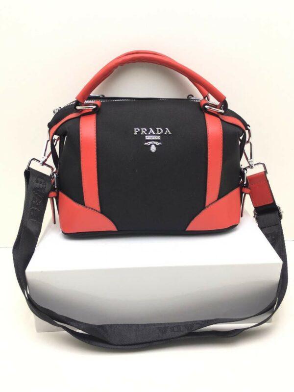 женская сумка Prada текстильная сумка